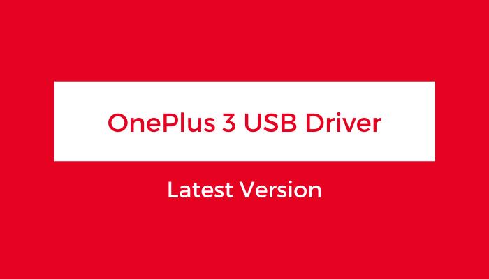 OnePlus-3-USB-Driver
