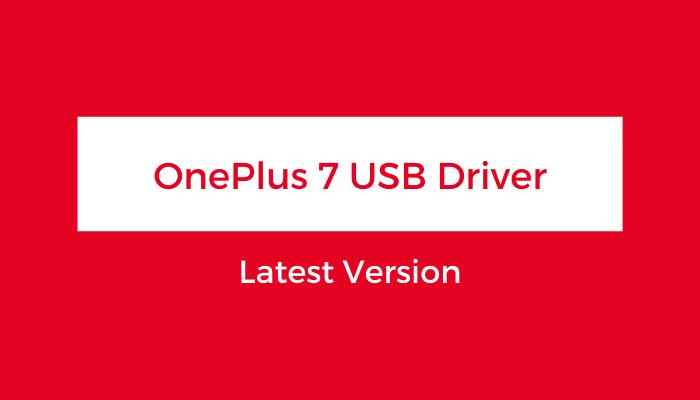 OnePlus-7-USB-Driver