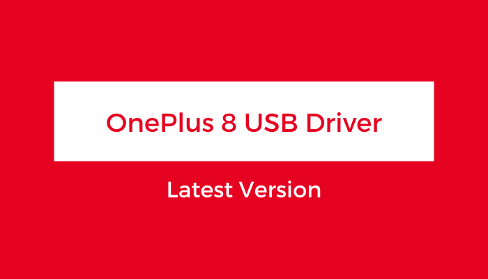 OnePlus-8-USB-Driver