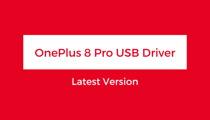 OnePlus-8-Pro-USB-Driver